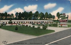 Sleepy Holly Motel Postcard