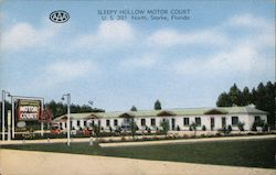 Sleepy Hollow Motor Court Postcard