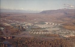 Aerial view of Fort Richardson Army Base, near Anchorage, Alaska