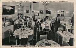Jacques French Restaurant Postcard