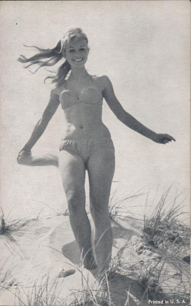 A Woman Wearing a Bikini Swimsuits & Pinup