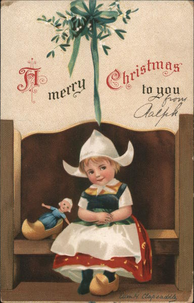 A Merry Christmas to You-Little Girl Ellen Clapsaddle