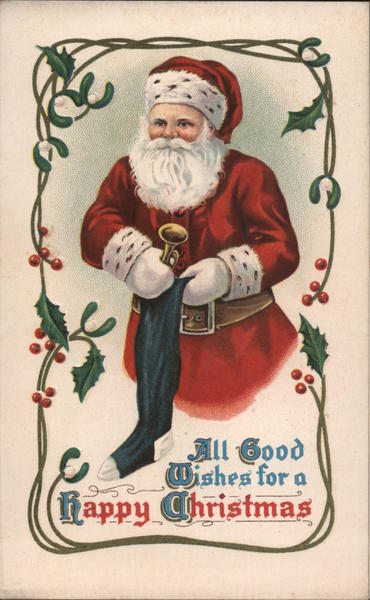 All Good Wishes for a Happy Christmas Santa Claus
