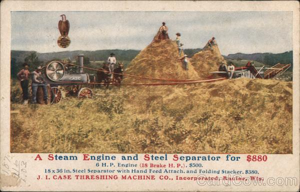 A Steam Engine and Steel Spearator for $800 Advertising