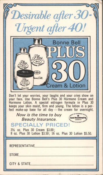 Bonne Bell Plus 30 Cream & Lotion Advertising