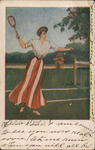 A Woman Playing Tennis