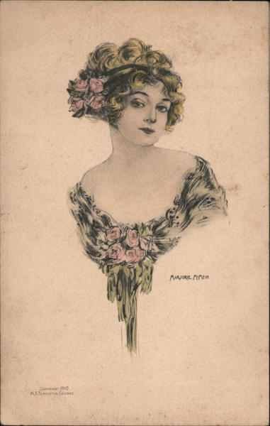 A Woman With Flowers in Her Hair Women