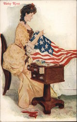 Betsy Ross sewing the Flag