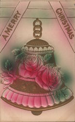 A Merry Christmas - A Bell with Flowers