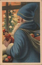 A Joyous Christmas, Santa in Blue Robe