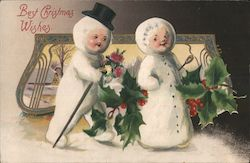 Best Christmas Wishes: Snowman Couple Walking