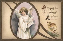 Happy Be Your Easter - An Angel Holding a Song Book
