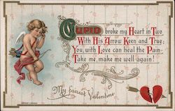 My Fairest Valentine - Cupid with a Bow and Arrow