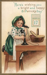 Here's Wishing you A Bright and Happy St. Patrick's Day - A Girl on the Phone