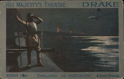 "His Majesty's Theatre - Drake. ""England is watching"""