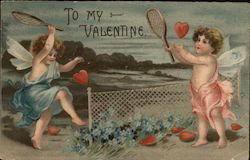 To My Valentine - Two Angels Playing Tennis