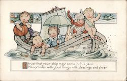 Five Young Boys in a Boat - New Year