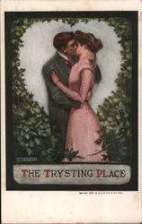 The Trysitting Place - A Man and a Woman Kissing