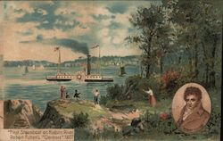 "First Steamboat on Hudson River - Robert Fulton's ""Clermont"" 1807"