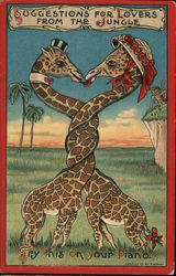 Suggestions For Lovers From the Jungle - Two Giraffes with Their Necks Twisted Together