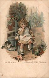 Little Mischief - A Young Child in a Chair