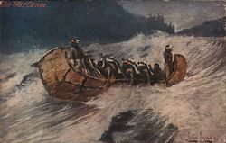 The War Canoe - A Canoe Full of Indians
