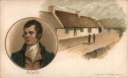 Burns and his home Postcard