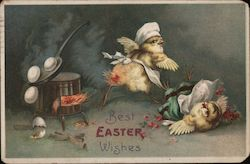 Best Easter Wishes - Two Chicks and Broken Eggs