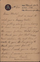 Easter Greetings - handwritten correspondence