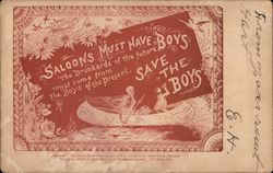 Save the Boys Postcard