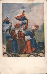 University of Pennsylvania Four Women Riding in a Carriage