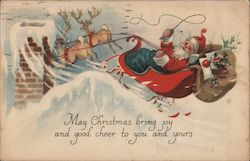 May Christmas Bring Joy and Good Cheer to You and Yours Postcard