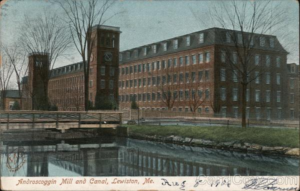 Androscoggin Mill and Canal Lewiston Maine