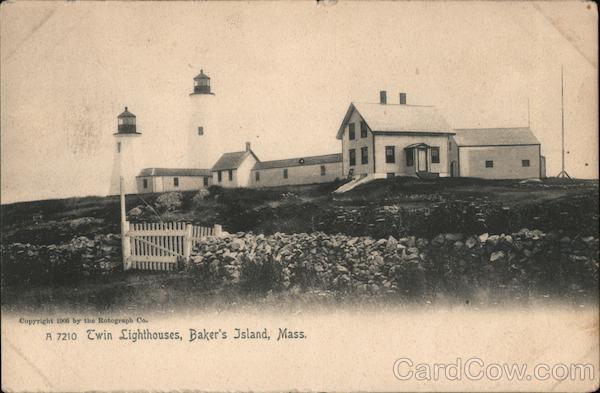 Twin Lighthouses, Baker's Island Salem Massachusetts