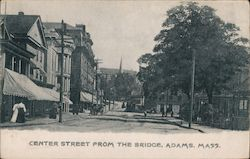 Center Street From the Bridge Postcard