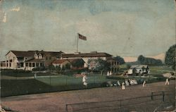 Tennis Courts, Mohawk Golf Club Postcard