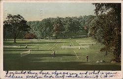Groups of People Playing Tennis, Franklin Park