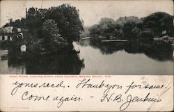 Rock River, Looking North From Central Bridge Postcard