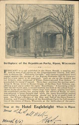 Birthplace of the Republican Party Postcard