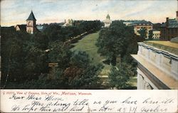 View of Campus, Univ. of Wis. Postcard