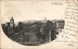 Campus from Library, University of Wisconsin Postcard