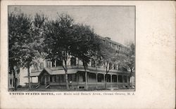 United States Hotel, Cor. Main and Beach Aves. Postcard