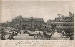 Asbury Avenue, Showing Coleman, West End and Ocean Hotels Postcard