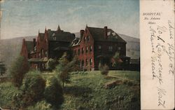 Hospital No. Adams Mass. Postcard