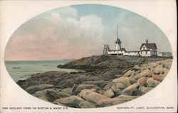 New England views on Boston and Maine R.R. - Eastern Pt Light