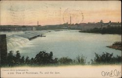 View of Norristown, Pa. and the Dam