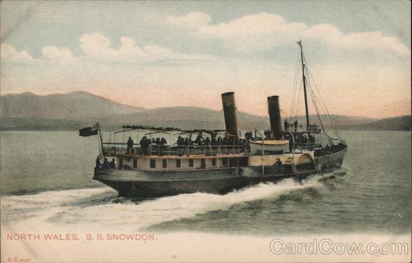 North Wales, S.S. Snowdon Steamers