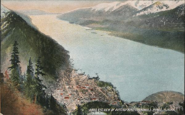 Birds Eye View of Juneau and Treadwell Mines Alaska