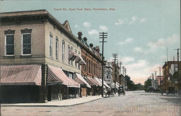 Court Street, East from Main Pendleton Oregon