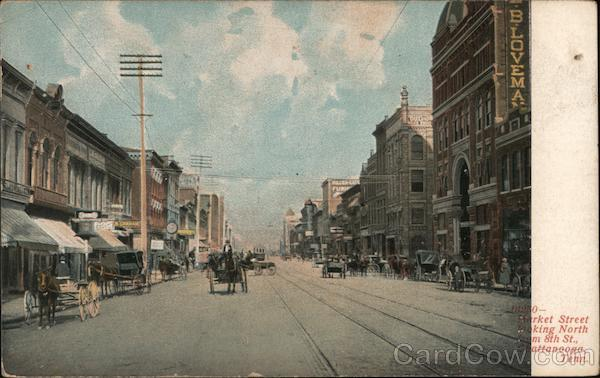 Market Street Looking North from 8th St Chattanooga Tennessee